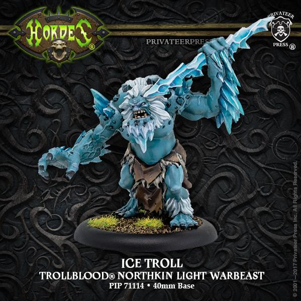 Hordes: (Trollbloods) Ice Troll - Trollblood Light Warbeast (1) (resin/metal)