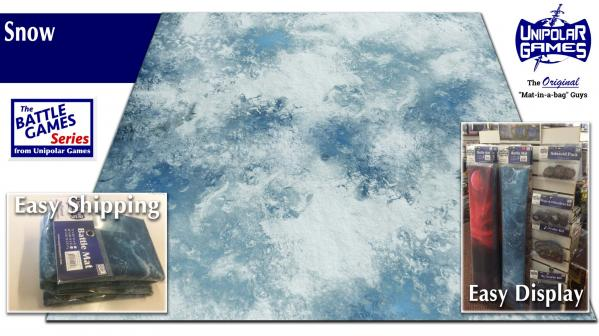Game Play Mats: Snow Terrain 3' x 3'