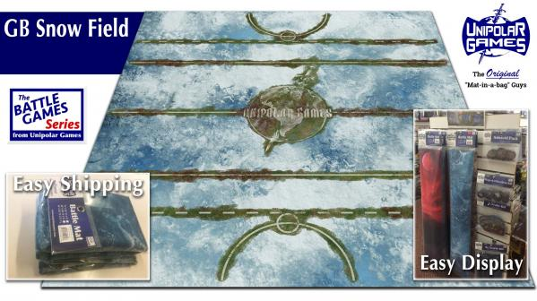 Game Play Mats: Snowy Sports Field Terrain 3' x 3'