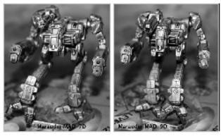 BattleTech Miniatures: Marauder MAD-7D / 9D Mech - 75 Tons - TRO PP / 3145NTNU (parts for either)