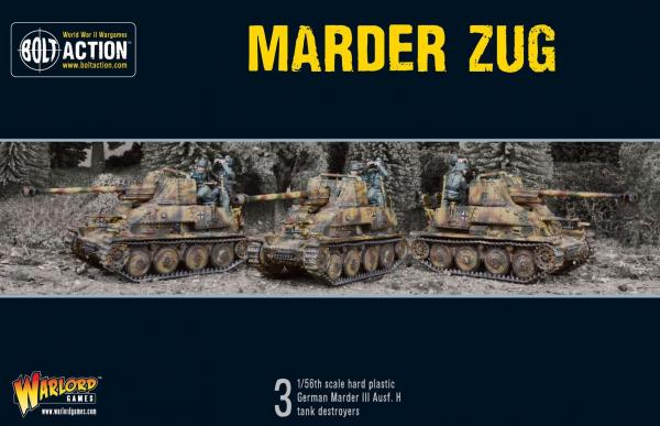 Bolt Action, 2nd Edition: Marder Tank Destroyer Zug (Plastic)