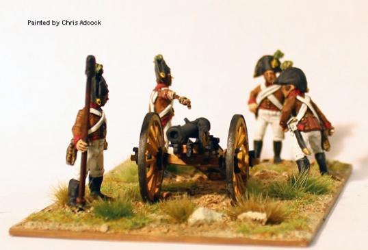28mm Napoleonic: (Austrian) Austrian Artillery Firing 6pdr