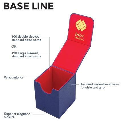 Dex Protection: Base Line Deckbox - Blue
