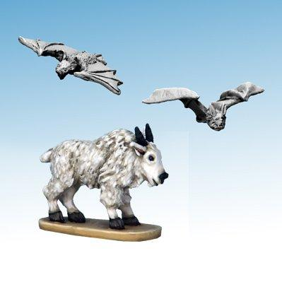 Frostgrave: Ghost Archipelago Mountain Goat & Blood-drinker Bats (3)