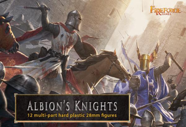 28mm Deus Vult: Albion's Knights (12 mounted plastic figures)