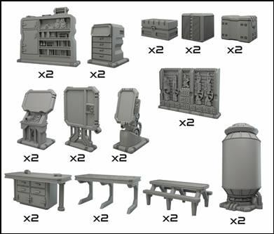 Terrain Crates: Battlezone - Starship Scenery