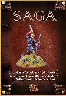 SAGA:Salian/Merovingian Frank Warband (25 foot figures & bases)