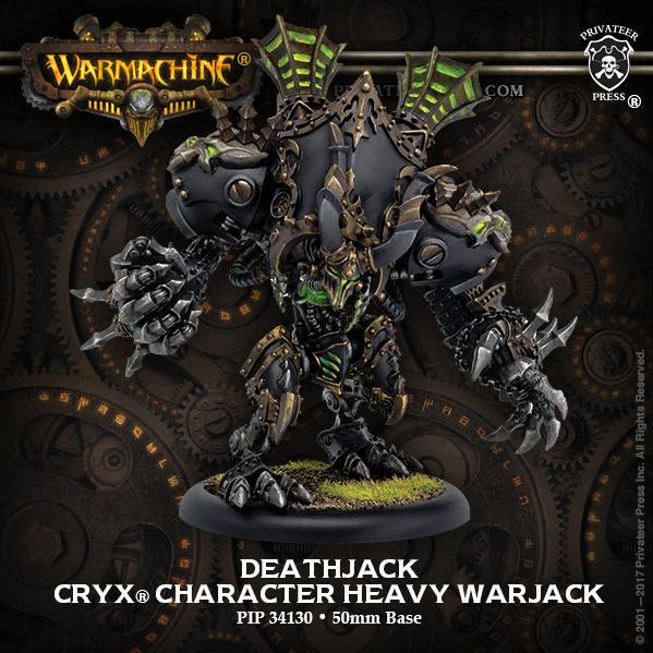 Warmachine: (Cryx) Deathjack – Cryx Character Heavy Warjack (1) (resin/metal)