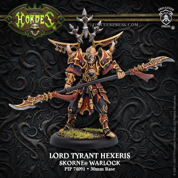 Hordes: (Skorne) Lord Tyrant Hexeris – Skorne Warlock (1) (resculpt) (metal)