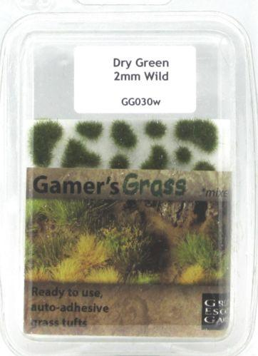 Gamer's Grass Dry Green 2mm Tufts Wild