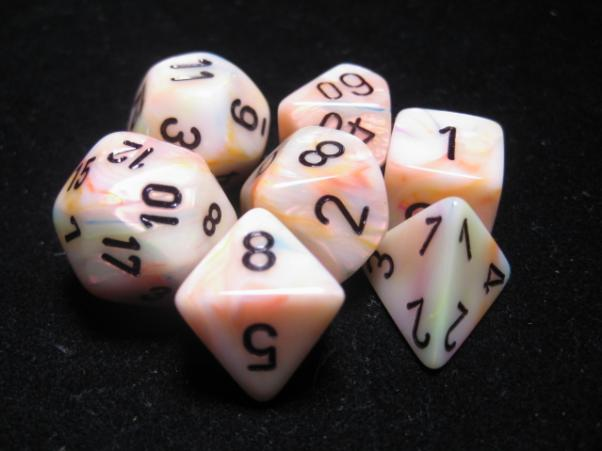 Chessex RPG Dice Sets: Circus/Black Festive Polyhedral 7-Die Set