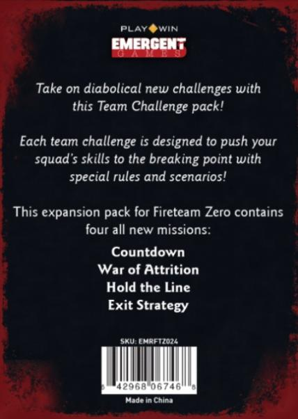 Fireteam Zero: Team Challenge Mission Pack