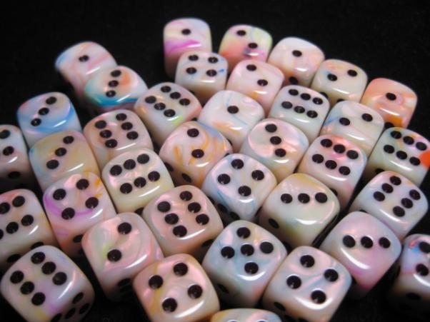 Chessex Dice Sets: Circus/Black Festive 12mm d6 (36)