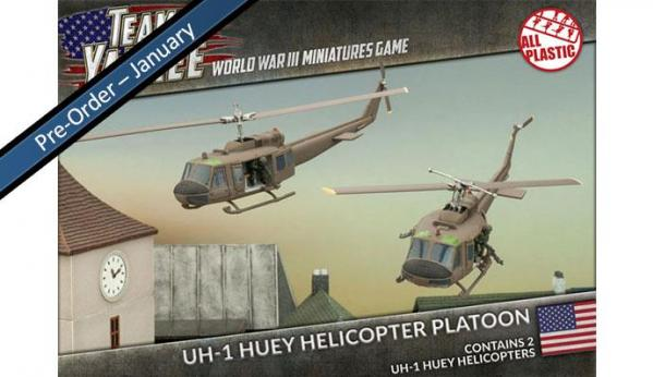 Flames Of War (Team Yankee): (USA) UH-1 HUEY TRANSPORT HELICOPTERS (2 x Plastic)