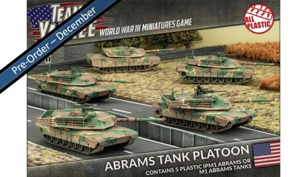 Flames Of War (Team Yankee): (USA) IPM1 or M1 ABRAMS TANK PLATOON (5 x Plastic)