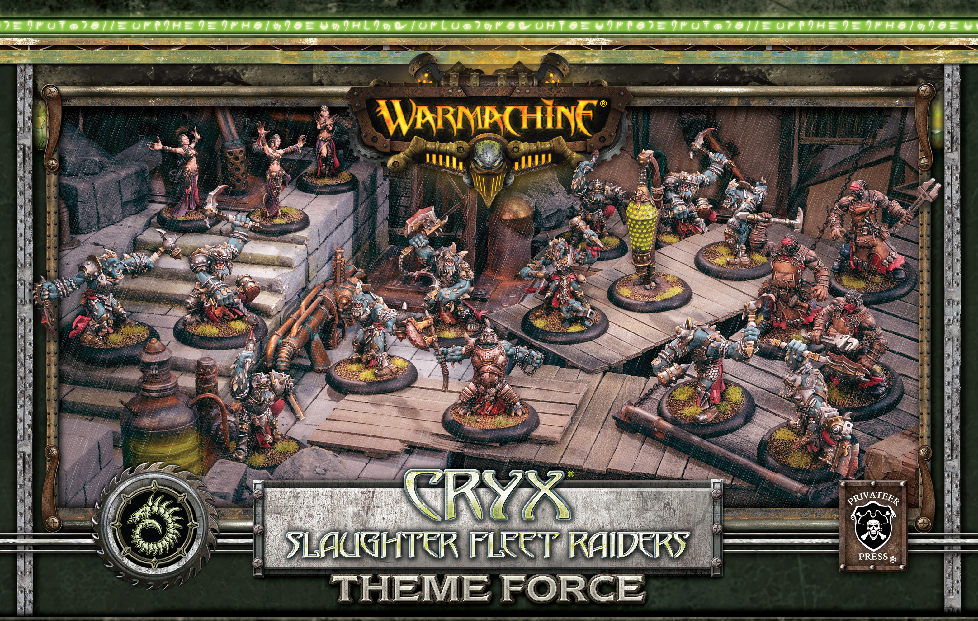 Warmachine: (Cryx) Slaughter Fleet Raiders Theme Force Box – (mixed resin/metal)