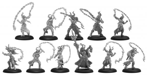 Warmachine: (Cryx) Satyxis Raiders & Sea Witch – Cryx Unit & Command Attachment (11) (resin/metal)
