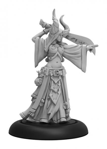 Warmachine: (Cryx) Satyxis Blood Priestess – Cryx Warcaster Attachment (resin/metal)