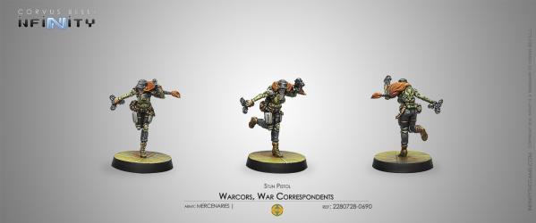 Infinity (#690) Mercenaries: Warcors, War Correspondents (Stun Pistol) (1)