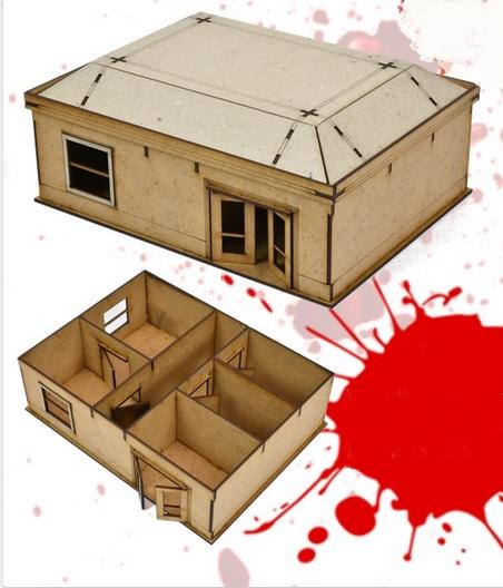 The Walking Dead: (MDF Scenery) Woodbury House 1