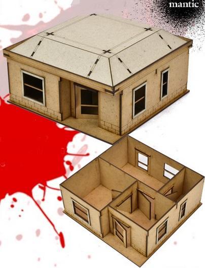 The Walking Dead: (MDF Scenery) Woodbury House 2
