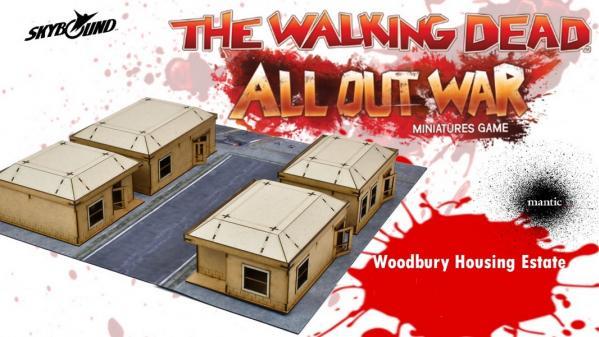 The Walking Dead: (MDF Scenery) Woodbury Housing Estate (Limited)