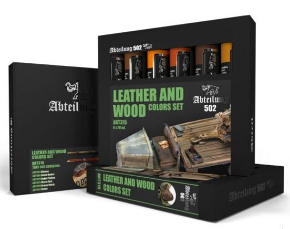 AK-Interactive: Abteilung 502 Leather and Wood Colors Set