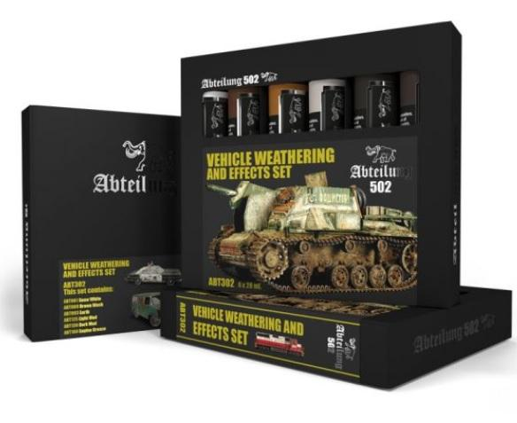 AK-Interactive: Abteilung 502 Vehicle Weathering and Effects Set