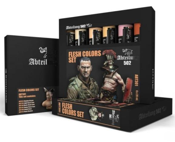 AK-Interactive: Abteilung 502 Flesh Colors Set