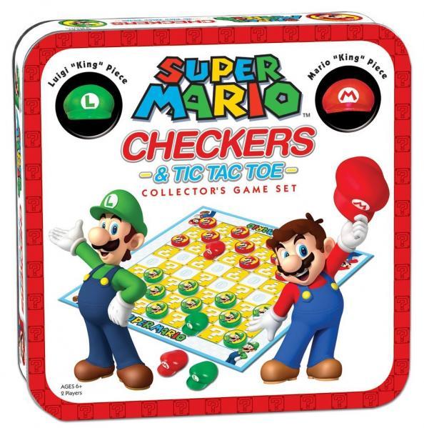 CHECKERS/TIC TAC TOE COMBO: Super Mario