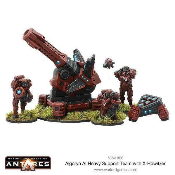 Beyond The Gates Of Antares: (Algoryn) Heavy Support Team with X-Howitzer