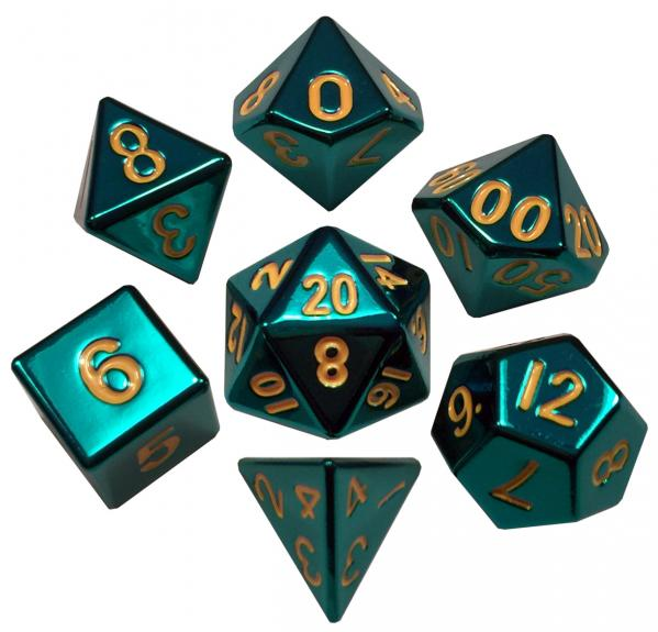 16mm Polyhedral Turquoise Painted (7)