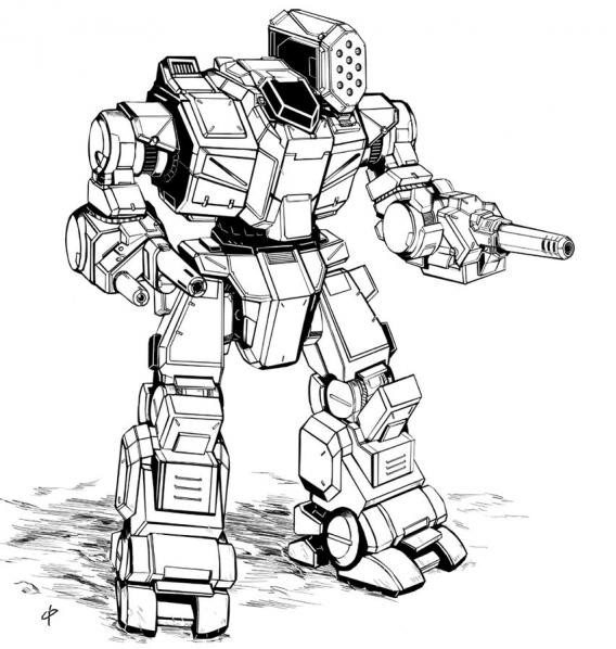 BattleTech Miniatures: Anzu ZU-G60 Mech  - 60 Tons - TRO 3145 Free Worlds League