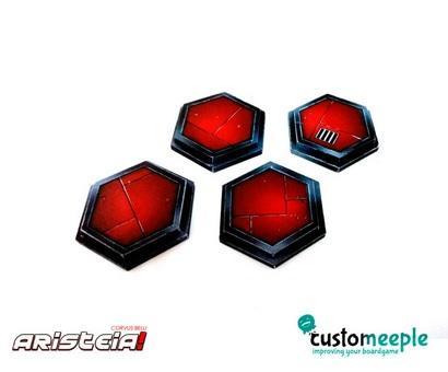 Aristeia!: Pano Hexagonal bases (4 units)