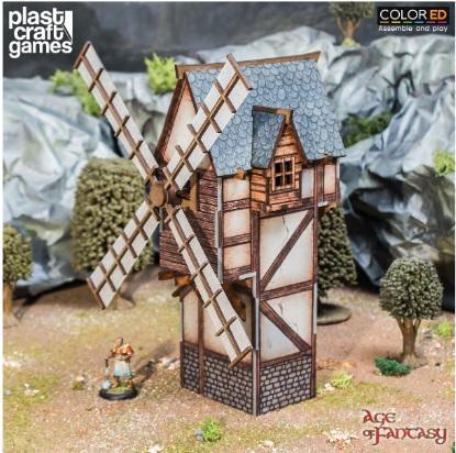 28mm Fantasy: (Terrain) Age of Fantasy - Old Man's Windmill (Color ED)