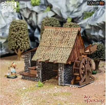 28mm Fantasy: (Terrain) Age of Fantasy - Lumber Mill (Color ED)