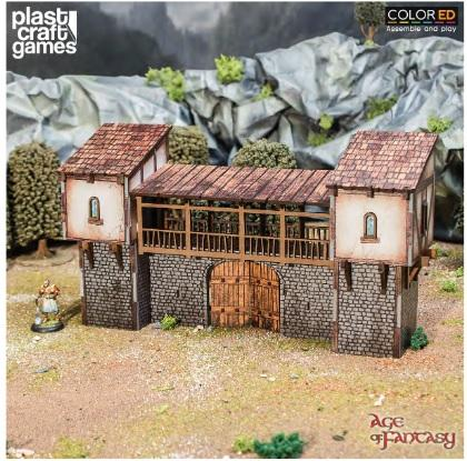 28mm Fantasy: (Terrain) Age of Fantasy - Blackfall Gates (Color ED)
