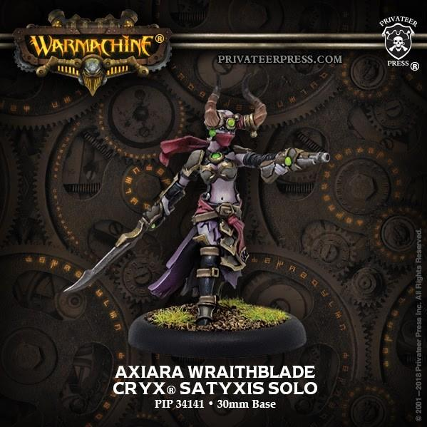 Warmachine: (Cryx) Axiara Wraithblade (1) - Cryx Character Solo (metal)