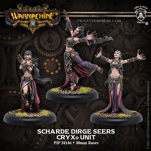 Warmachine: (Cryx) Scharde Dirge Seers (3) – Cryx Unit (Metal)