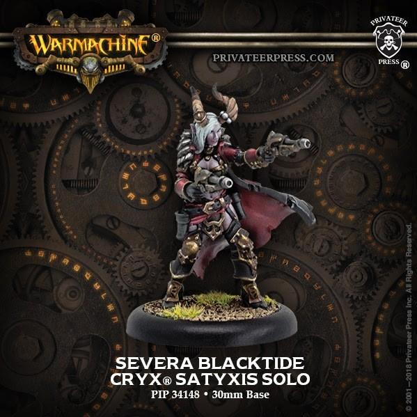 Warmachine: (Cryx) Severa Blacktide (1) – Cryx Character Solo (metal)