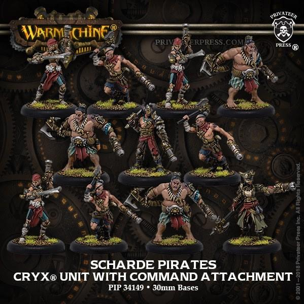 Warmachine: (Cryx) Scharde Pirates (11) – Cryx Unit (resin/metal)