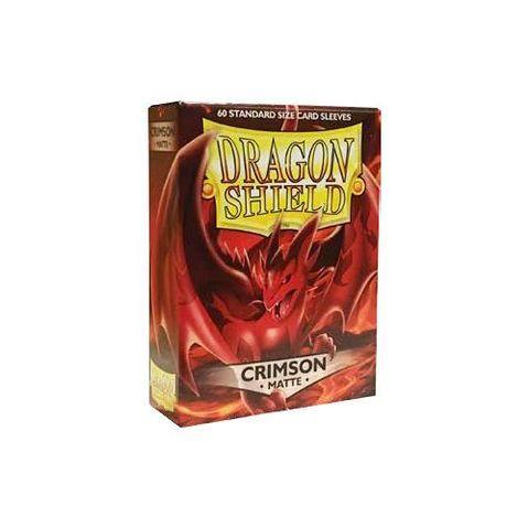Dragon Shields: Matte Crimson Sleeves (60)