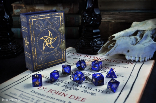 Elder Dice Set: Astral Star Sign (nine d6 in Spellbook)