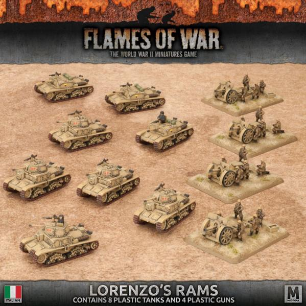 Flames Of War: Avanti - (Italy) Lorenzo's Rams (Plastic Army Deal)