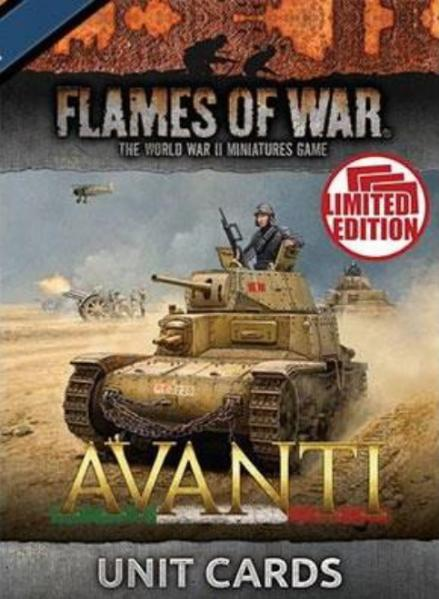 Flames Of War: Avanti - Italian Unit Cards (Limited)