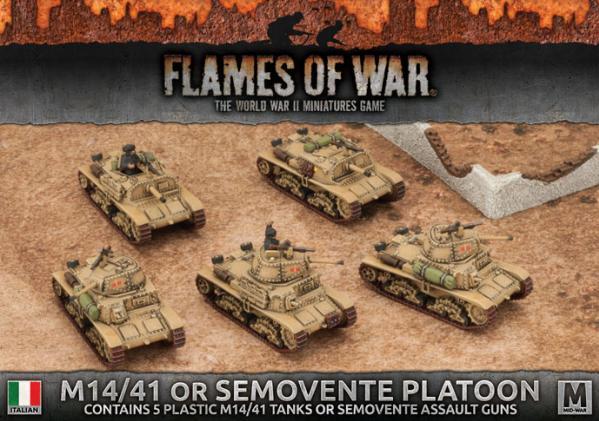 Flames Of War: Avanti - (Italy) M14/41 or Semovente Platoon (Plastic)