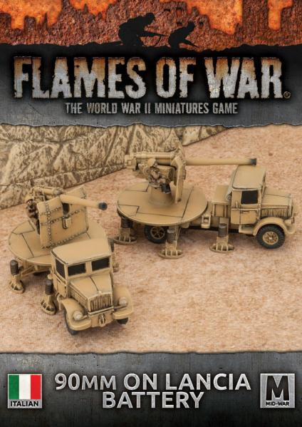 Flames Of War: Avanti - (Italy) 90mm on Lancia Anti-tank Battery