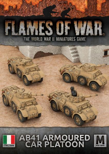 Flames Of War: Avanti - (Italy) AB41 Armoured Car Platoon