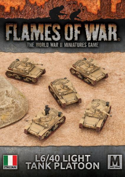 Flames Of War: Avanti - (Italy) L6/40 Light Tank Platoon