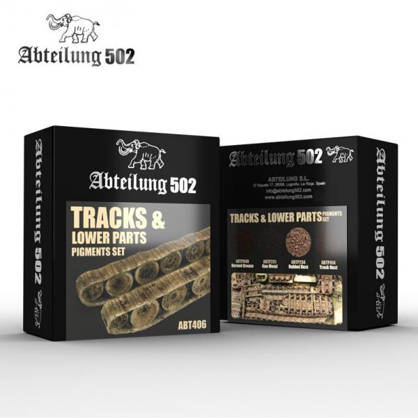 AK-Interactive: Abteilung 502 Tracks & Lower Parts Pigments Set